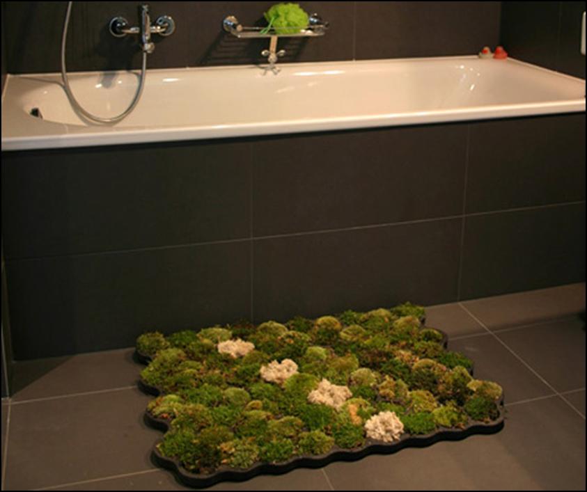 alfombra de musgo para tu baño