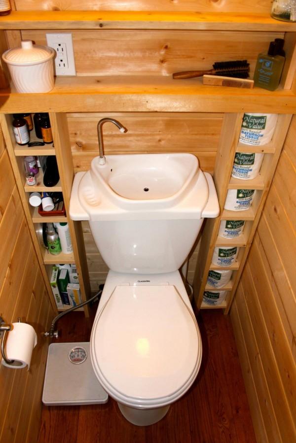 Como hacer tu ba o m s verde combinaciones de inodoro y - Inodoro y lavabo en uno ...