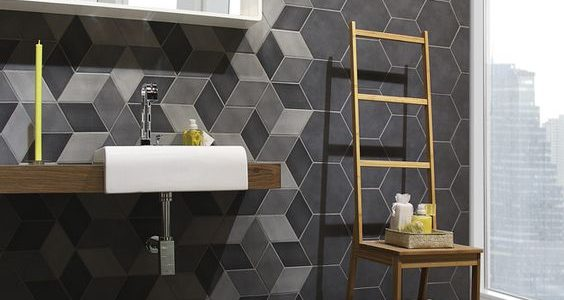 Baldosas hexagonales : 28 ideas para decorar tu baño
